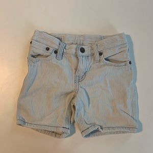 Ralph Lauren Boy 2T Heavy Wash Denim Striped Short